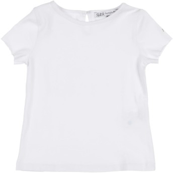 《セール開催中》PATRIZIA PEPE ガールズ 3-8 歳 T シャツ ホワイト 5 コットン 95% / ポリウレタン 5% / ナイロン / Lurex