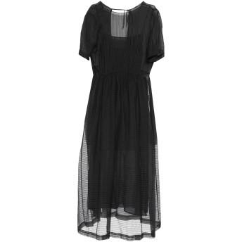 《セール開催中》.TESSA レディース ロングワンピース&ドレス ブラック 38 コットン 80% / シルク 20%