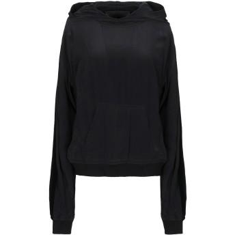 《セール開催中》HAIDER ACKERMANN レディース スウェットシャツ ブラック M シルク 100% / ポリエステル / ポリウレタン