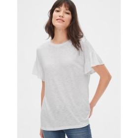 Gap ソフトスラブラッフルスリーブTシャツ