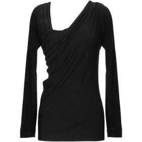 《セール開催中》ALBERTA FERRETTI レディース T シャツ ブラック 44 レーヨン 75% / バージンウール 20% / 指定外繊維 5%