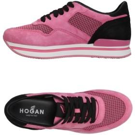 《期間限定セール開催中!》HOGAN レディース スニーカー&テニスシューズ(ローカット) ピンク 37 紡績繊維 / 革