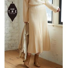 【ロペピクニック/ROPE' PICNIC】 【meiji THE Chocolate×ROPE' PICNIC】ニットスカート