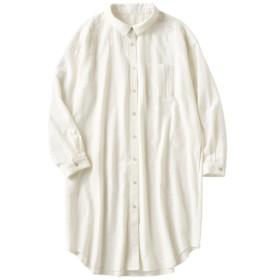 49%OFF【レディース】 洗いざらしコットンのロングシャツ(綿100%) - セシール ■カラー:オフホワイト ■サイズ:M,L