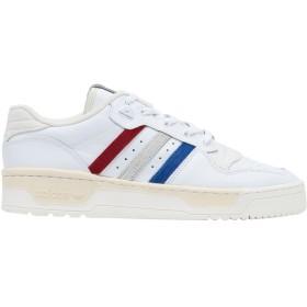 《セール開催中》ADIDAS ORIGINALS メンズ スニーカー&テニスシューズ(ローカット) ホワイト 6 革 / 紡績繊維 RIVALRY LOW