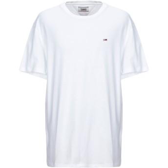 《セール開催中》TOMMY JEANS メンズ T シャツ ホワイト XXL コットン 100% TJM TOMMY CLASSIC