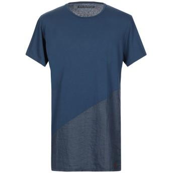 《セール開催中》BASICO A CHILOMETRIZERO メンズ T シャツ ダークブルー S コットン 100%