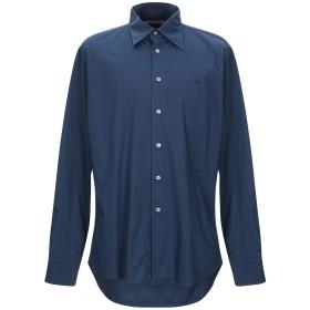 《セール開催中》CARLO CHIONNA メンズ シャツ ダークブルー 52 コットン 96% / ポリウレタン 4%