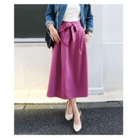 カラー展開豊富♪大人のキレイ目リボン付フレアスカート (ひざ丈スカート)Skirts, 裙子