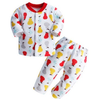【SEBLES】 ベビー 赤ちゃん キュート デザイン コットン パジャマ 寝巻 全15種 サイズ 70cm 80cm 90cm 100cm クロスセット (Kタイプ,73)
