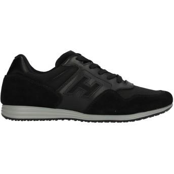 《セール開催中》HOGAN メンズ スニーカー&テニスシューズ(ローカット) ブラック 5 革 / 紡績繊維