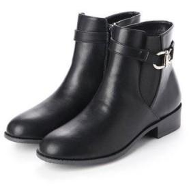 ラファーファ lafarfa ◆ももちゃん コラボデザイン◆防水仕様 ベルト付きショートブーツ (BLK)