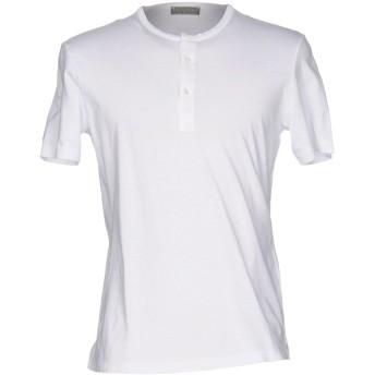《セール開催中》GIRELLI BRUNI メンズ T シャツ ホワイト 48 コットン 70% / 麻 30%