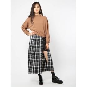 [マルイ] レイヤード風チェックプリーツスカート/セシルマクビー(CECIL McBEE)