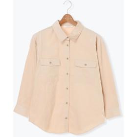 【6,000円(税込)以上のお買物で全国送料無料。】細コールビッグシャツ LS