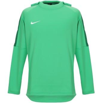 《セール開催中》NIKE メンズ スウェットシャツ グリーン S ポリエステル 100%