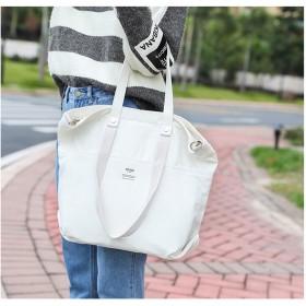 FABL 純綿キャンバスバッグ、学生ファッションカジュアルショルダーバッグ、大容量旅行かばん