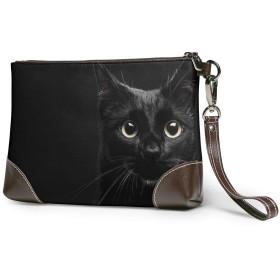クラッチバッグ ビジネスバッグ バッグ 防水バッグ ネコ 黒い セカンドバック メンズ レディース 鞄 人気 クラッチ 本革