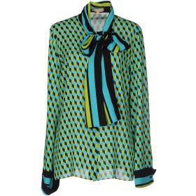 《セール開催中》MICHAEL KORS COLLECTION レディース シャツ ターコイズブルー 2 シルク 100%