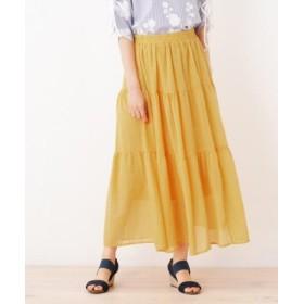 (SHOO・LA・RUE/シューラルー)ティアードデザインスカート/レディース マスタード(033)