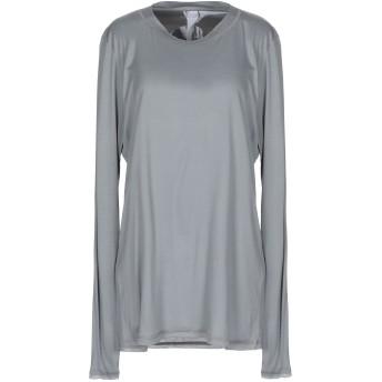 《セール開催中》PUROTATTO レディース T シャツ グレー XL レーヨン 60% / カゼイン繊維 40%