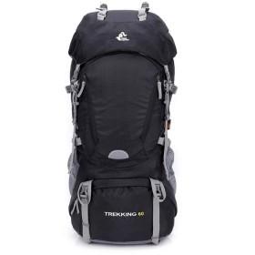 登山用リュックサックバックパックキャンプバルクフィードのカバーをトレッキング,黒