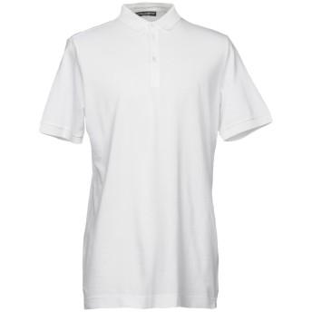 《セール開催中》DOLCE & GABBANA メンズ ポロシャツ ホワイト 46 100% コットン