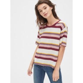 Gap ボクシーストライプ半袖クルーネックTシャツ