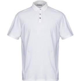 《セール開催中》ALPHA STUDIO メンズ ポロシャツ ホワイト 54 コットン 100%