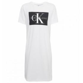 カルバンクライン Calvin Klein Jeans レディース ワンピース シャツワンピース Tシャツワンピース ワンピース・ドレス mono t shirt dre