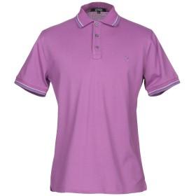 《期間限定セール開催中!》TRUSSARDI ACTION メンズ ポロシャツ パープル 48 コットン 100%