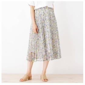 【イッツデモ/ITS'DEMO】 花柄レースプリーツスカート