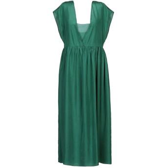 《セール開催中》POMANDRE レディース 7分丈ワンピース・ドレス エメラルドグリーン 38 シルク 100%