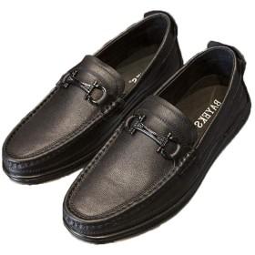 [BNKSDJ] ローファー メンズ ビジネス 牛革 静音/軽量/滑り止め ビジネス シューズ ドライビングシューズ モカシン 靴 スリッポン 型 本革靴 バックルデザイン 定番人気デザイン カジュアルシューズ