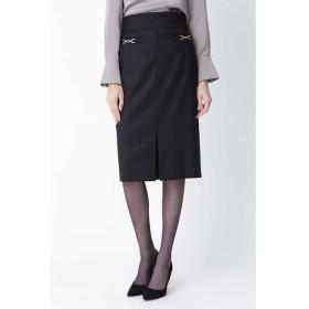 【ピンキーアンドダイアン/PINKY&DIANNE】 ◆ウールヘリンボーンビットアクセントスカート