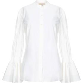 《セール開催中》MICHAEL MICHAEL KORS レディース シャツ ホワイト S コットン 96% / ポリウレタン 4%
