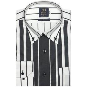 ブリックハウス ワイシャツ 長袖 形態安定 ボットー二 ボタンダウン 綿100% 標準体 メンズ BM019505AA12V4A-34 クロ・グレー S-80