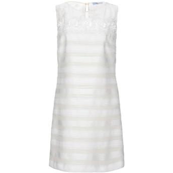《セール開催中》BLUMARINE レディース ミニワンピース&ドレス ホワイト 40 ポリエステル 29% / ナイロン 28% / コットン 25% / レーヨン 18%