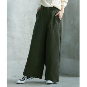 ウール混ベイカーパンツ (レディースパンツ),pants