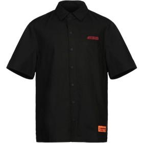 《セール開催中》HERON PRESTON メンズ シャツ ブラック S コットン 100% / ポリエステル