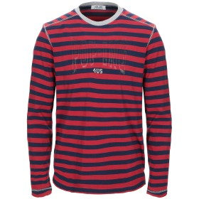 《期間限定セール開催中!》CESARE PACIOTTI 4US メンズ T シャツ レッド 54 コットン 90% / ポリウレタン 10%