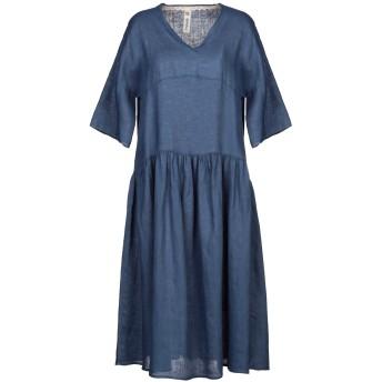 《セール開催中》EMPATHIE レディース 7分丈ワンピース・ドレス ブルー XS 麻 100%