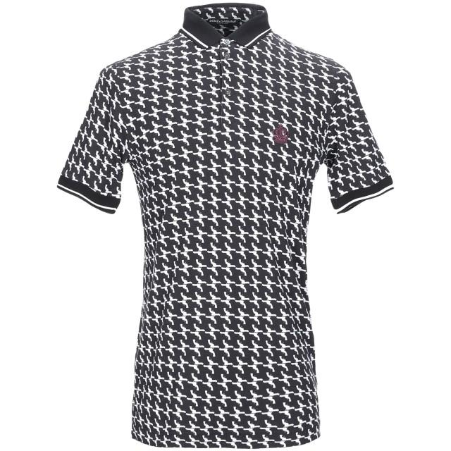 《期間限定セール開催中!》DOLCE & GABBANA メンズ ポロシャツ ブラック 44 コットン 100%