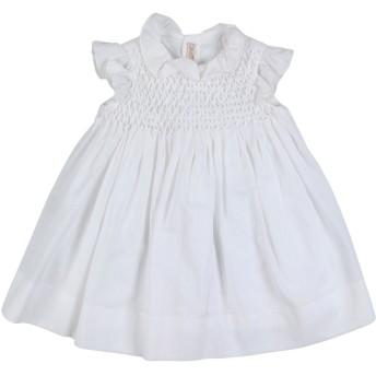 《セール開催中》LITTLE BEAR ガールズ 0-24 ヶ月 ワンピース・ドレス ホワイト 3 コットン 100%