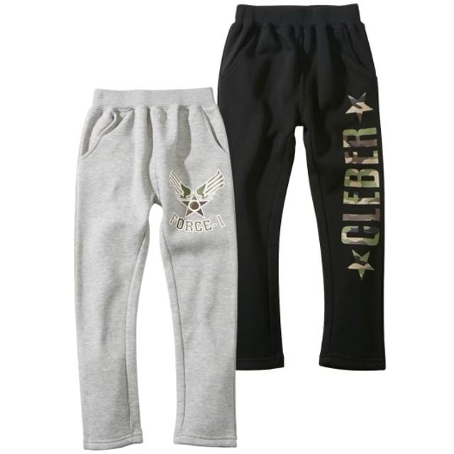 あったか裏起毛ロングパンツ2枚組(男の子 子供服。ジュニア服) パンツ, Pants, 子, 子