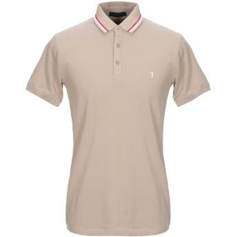 《セール開催中》TRUSSARDI メンズ ポロシャツ カーキ S コットン 97% / ポリウレタン 3%