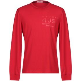 《セール開催中》CESARE PACIOTTI 4US メンズ T シャツ レッド 46 コットン 90% / ポリウレタン 10%