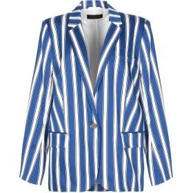 《セール開催中》ESCADA レディース テーラードジャケット ブルー 44 コットン 98% / ポリウレタン 2%