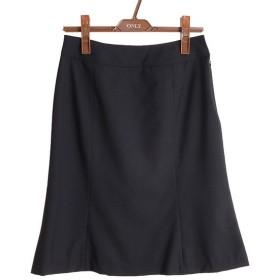 定番 ブラック無地 マーメイドスカート