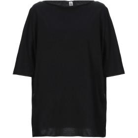 《セール開催中》ISABELLA CLEMENTINI レディース T シャツ ブラック 44 コットン 100%